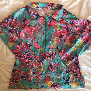 Lilly Pulitzer Coral Reef 1/4 Zip (M)